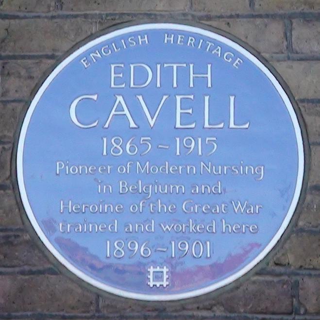 Edith Cavell at Royal London Hospital : London Remembers