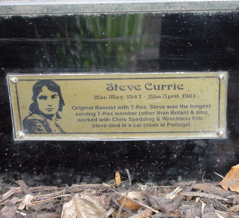 Marc Bolan Shrine Plaque Currie London Remembers